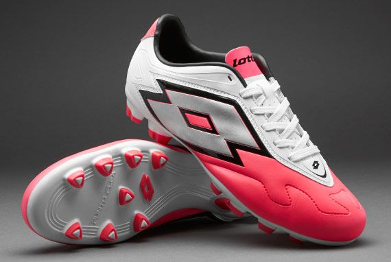 Lotto Football Boots - Lotto Zhero Gravity V 700 FG - Firm Ground - Soccer  Cleats - Fluorescent Coral-White