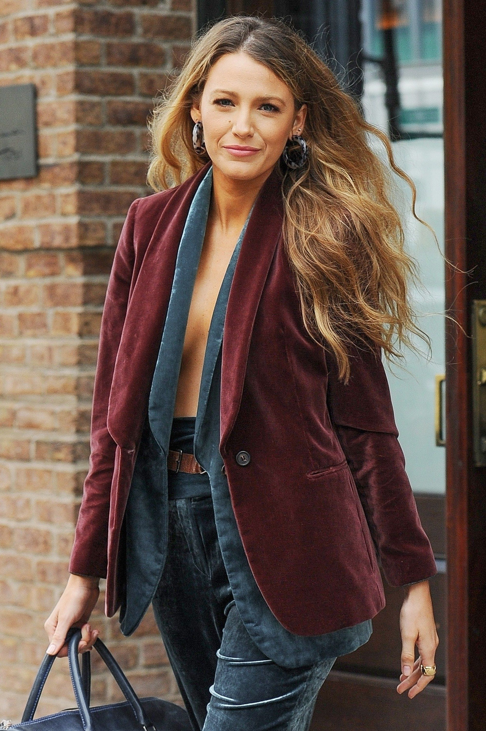 Blake Lively Says Goodbye to Baby Blonde, Hello to a Rich New Honey Brown Hair Color #blakelively