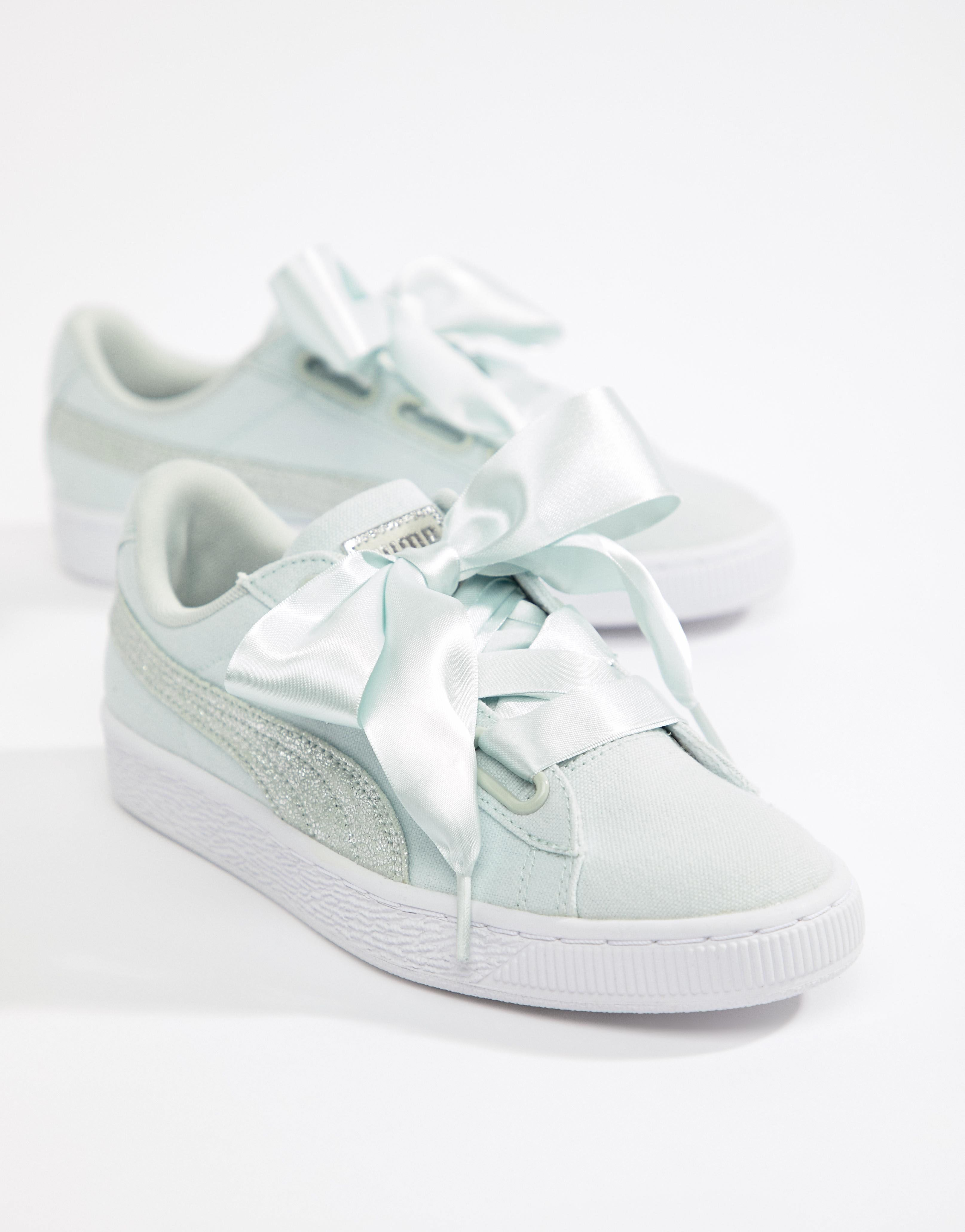 The best wedding trainers for brides | Puma basket heart
