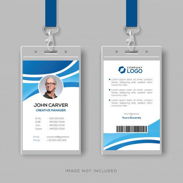 Plantilla de tarjeta de identificación c  Premium Vector