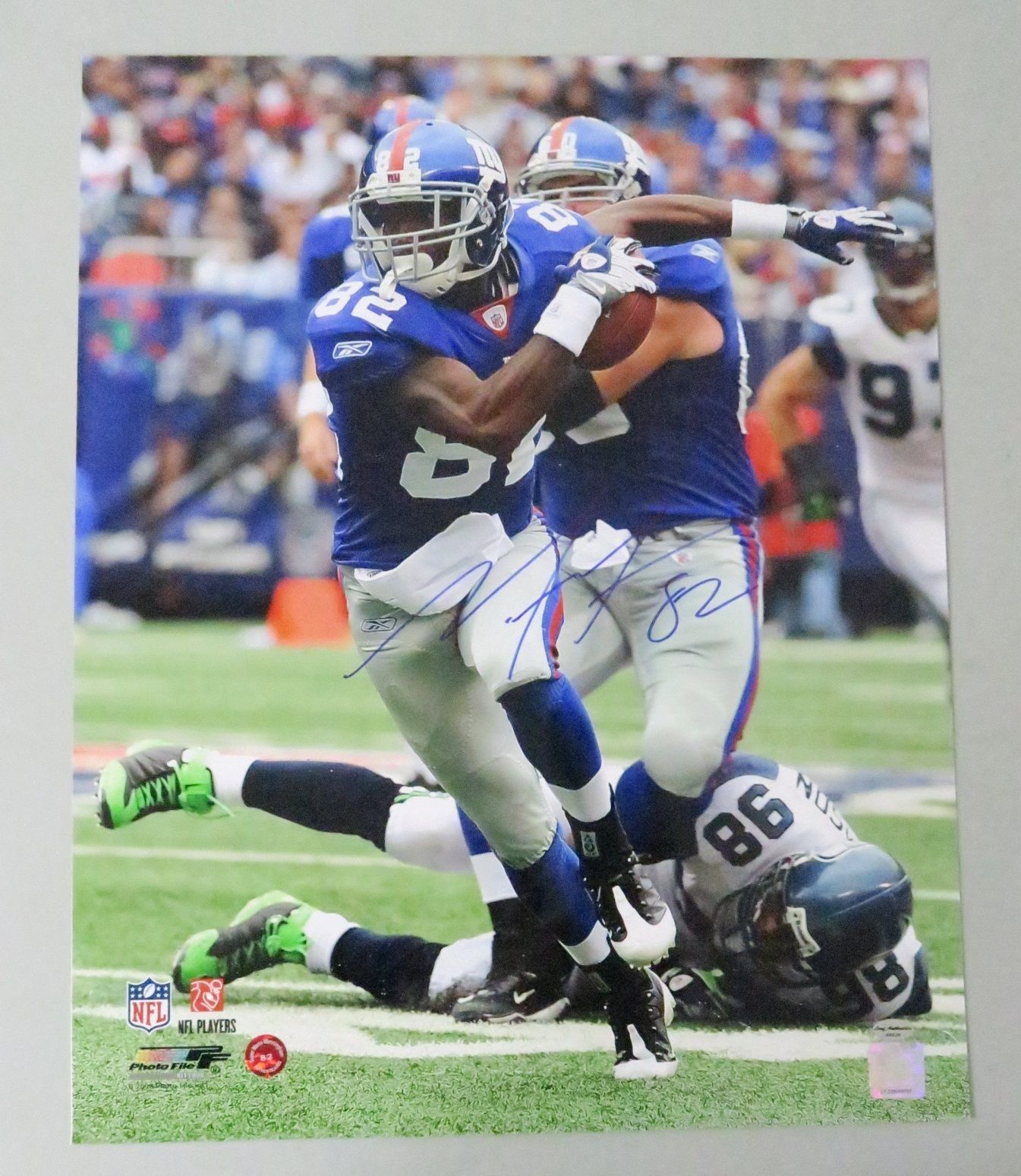 122908 Mario Manningham Signed 16x20 Photo AUTO Autograph LEAF COA