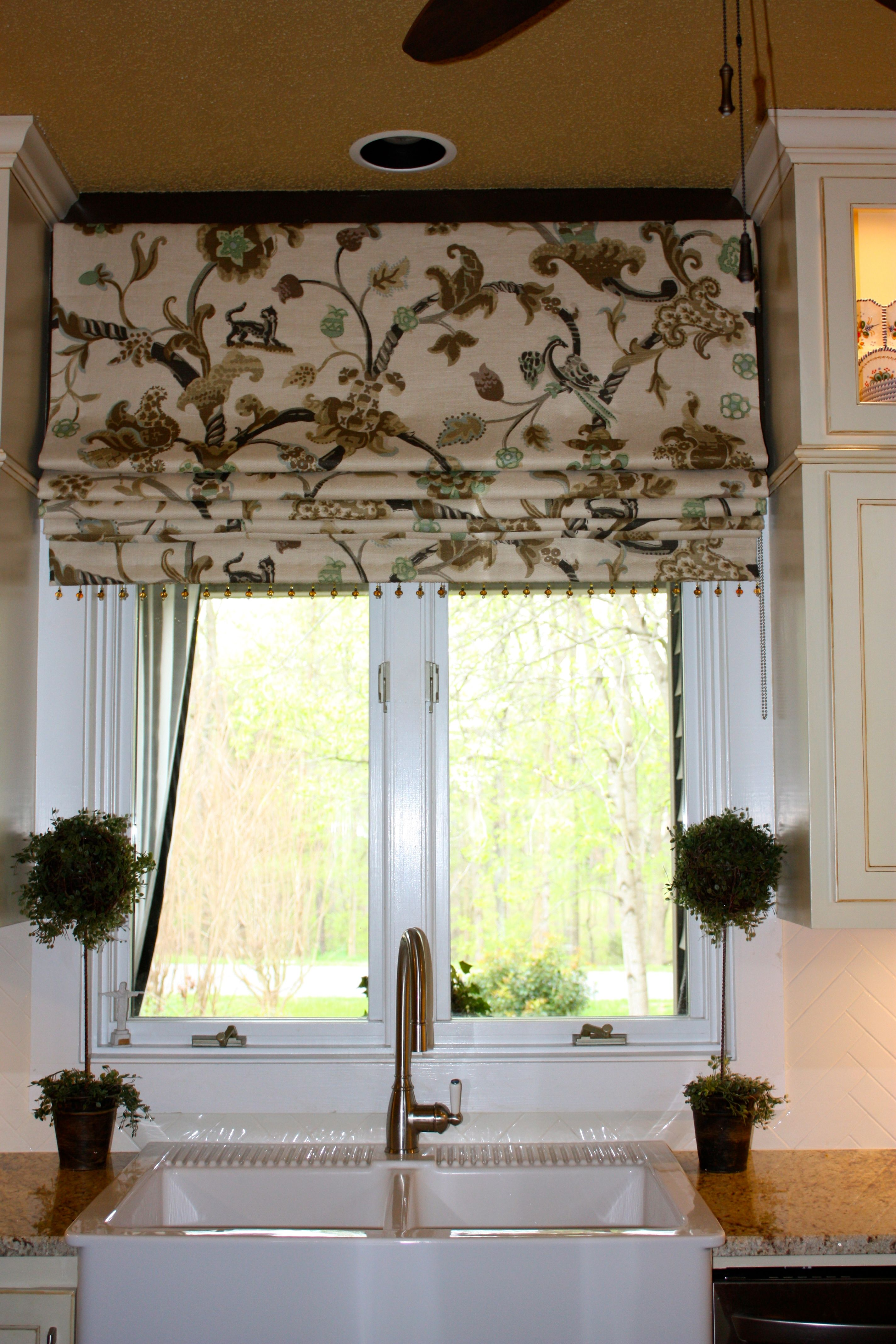 Roman Shade With English Bump Interliningblack Out Lining On A