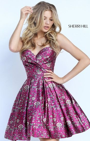 Spring 2017 SHERRI HILL | Printed prom dresses, Fancy