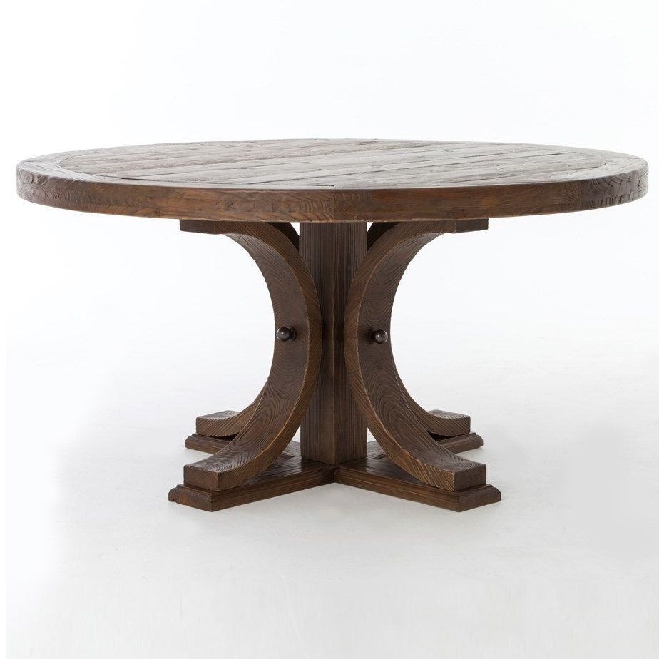 Round Wood Dining Table With Leaf Round Pedestal Dining Table