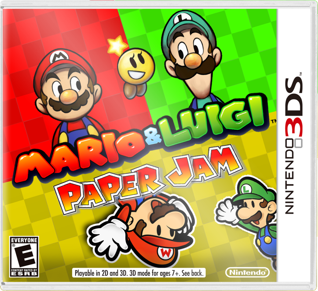 Mario and Luigi: Paper Jam Boxart by Fawfulthegreat64 | Cards and