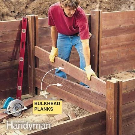 How To Build A Treated Wood Retaining Wall Wood Retaining Wall
