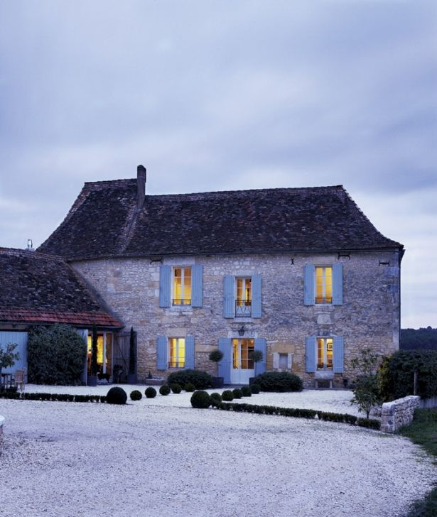 French Country House At Night French Country House