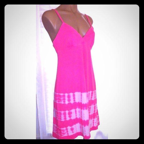NWOT Pink Babydoll Xhilaration tie dye pink&white babydoll sleepwear. Never worn. Great condition! Xhilaration Dresses