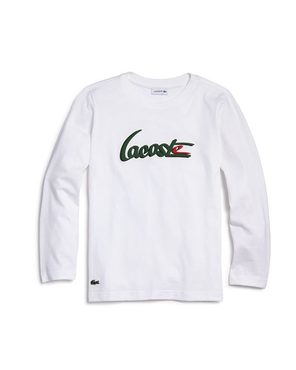 a04d0d5d2785 Lacoste Boys  Long-Sleeve Logo Tee - Little Kid