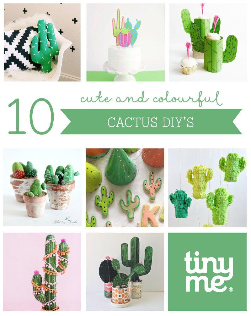 10 Cute Cactus DIYs   Board Of Craft & Decor Ideas Round ...