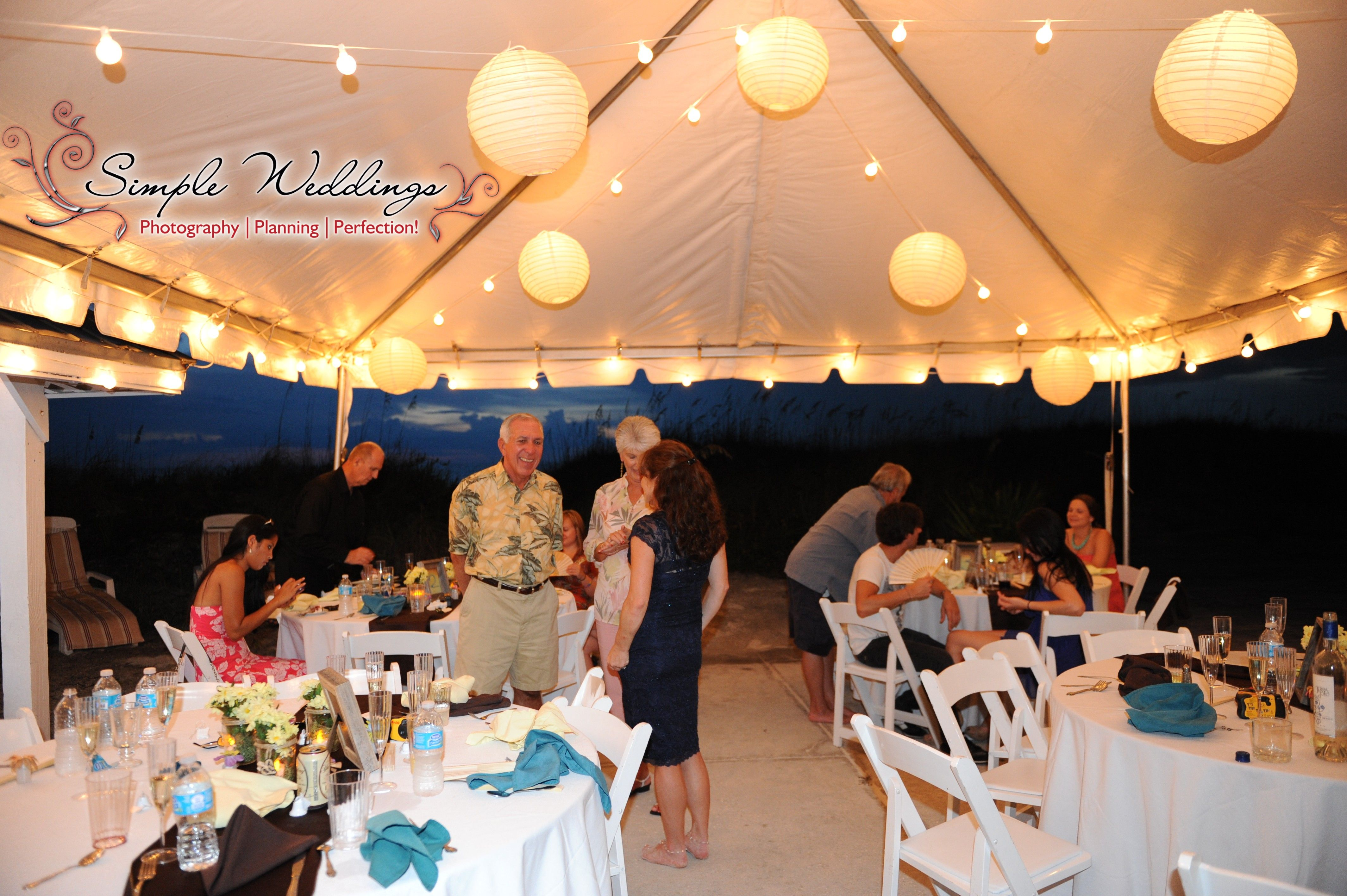 Tented Evening Beach Wedding Reception At The Serendipity House Near Tampa Clearwater And