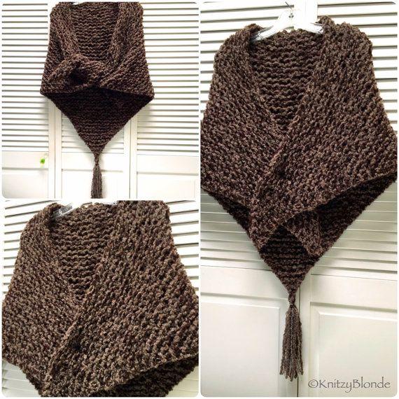 Outlander Sassenach Shawl Claire Fraser Scottish Brown Wool Boucle ...