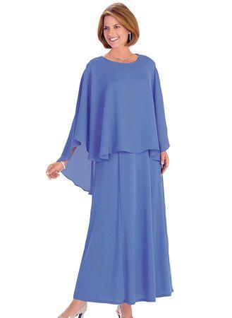 Caplet Gown from www.amerimark.com. #choirdress #womensdress #formaldress