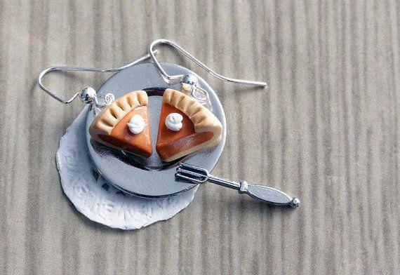 Polymer Clay Miniature Food Jewelry  Pumpkin by MySecretCravings