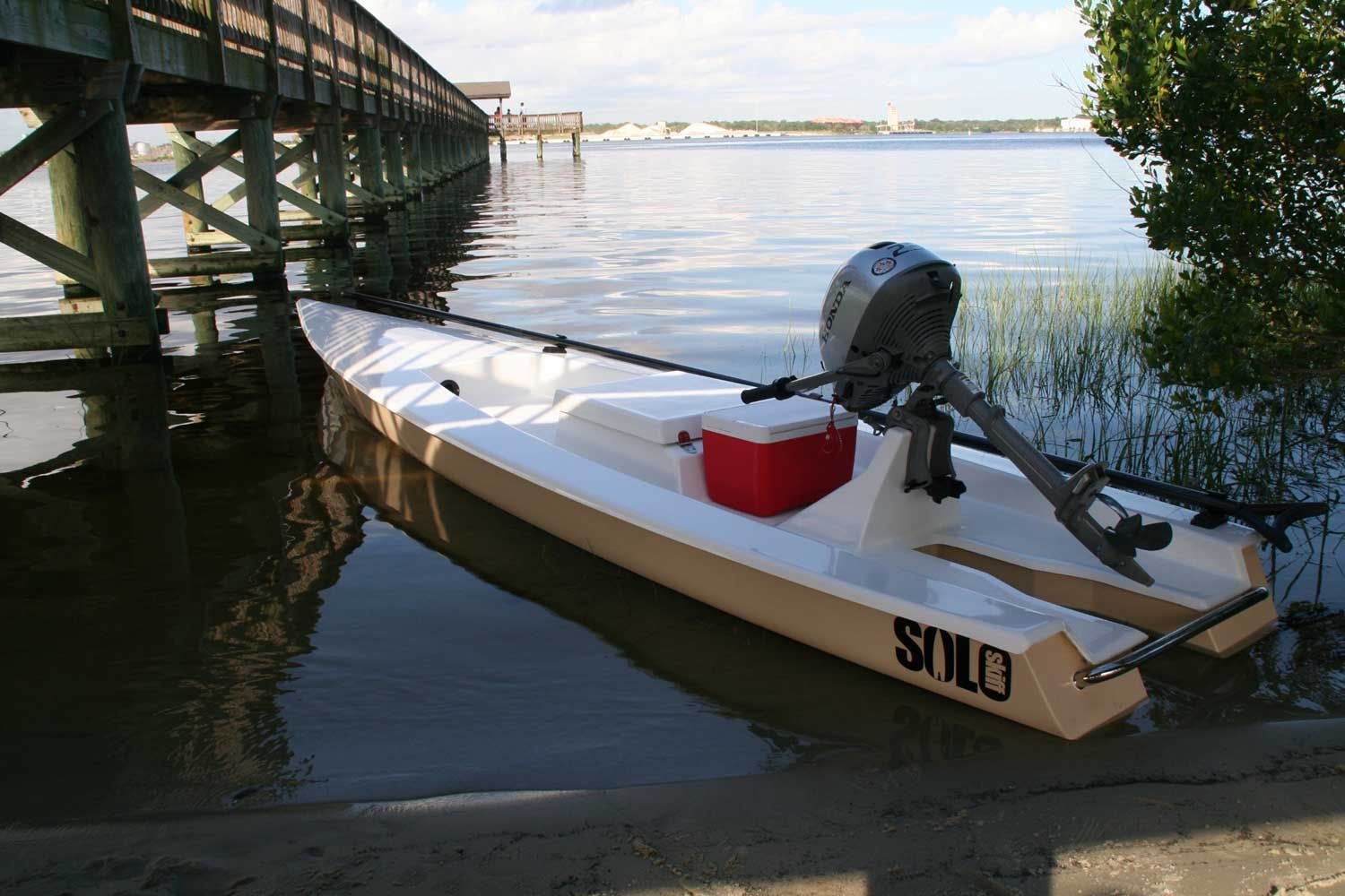 Solo skiffs the one man micro skiff for the shallow water for Build fishing boat