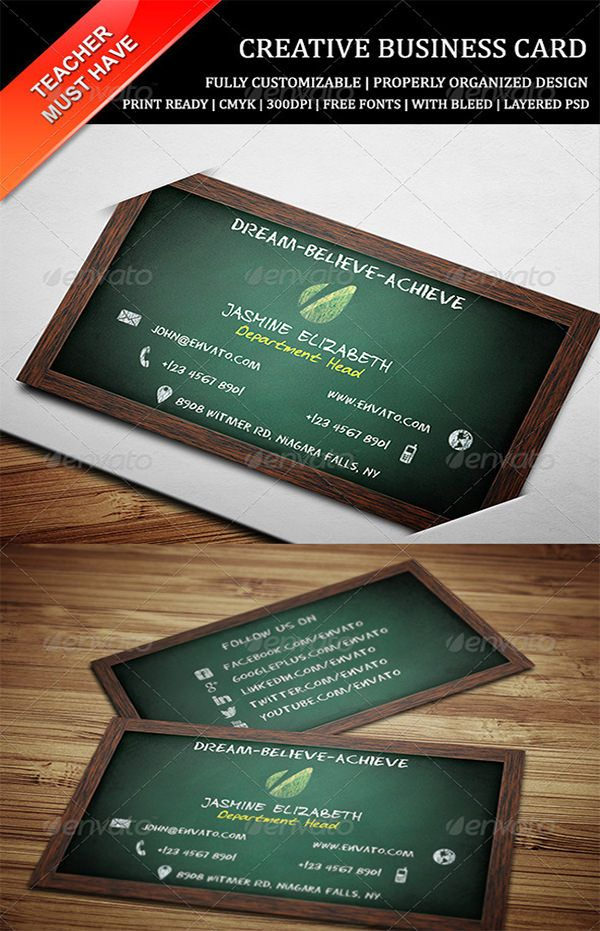 Business Cards For Teachers 48 Free Psd Format Download Free