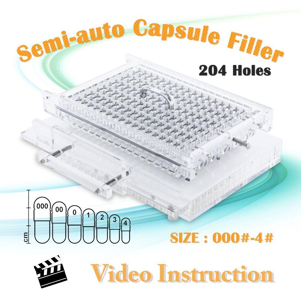 Cn204s Semi Automatic Capsule Filling Machine Manual Capsule Filler Size 000 4 Capsule Home Appliances Instructional Video