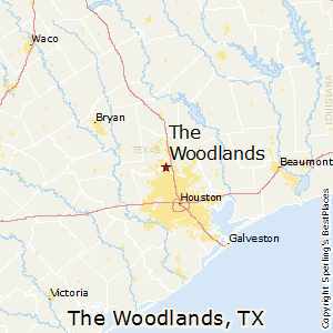 Woodlands Texas Map The Woodlands,Texas, map. Best place to live if you have to live