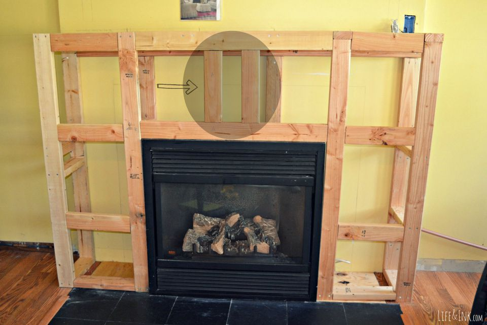 Framing the electrical fireplace insert and or building a for Building an indoor fireplace
