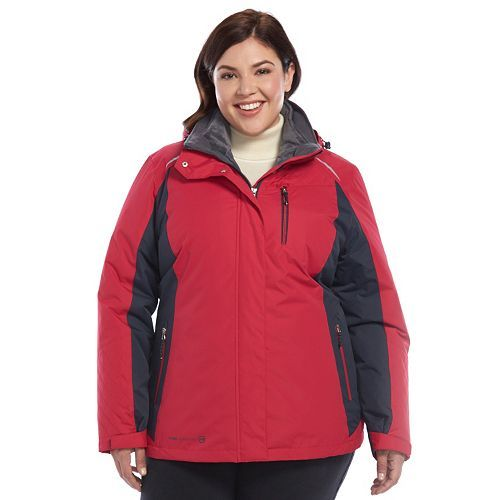 9283c542ac8 Plus Size Free Country Radiance Hooded 3-in-1 Systems Jacket ...