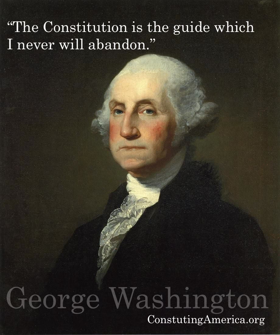 "Revolutionary War Quotes The Constitution Is The Guide Which I Never Will Abandon."" George"