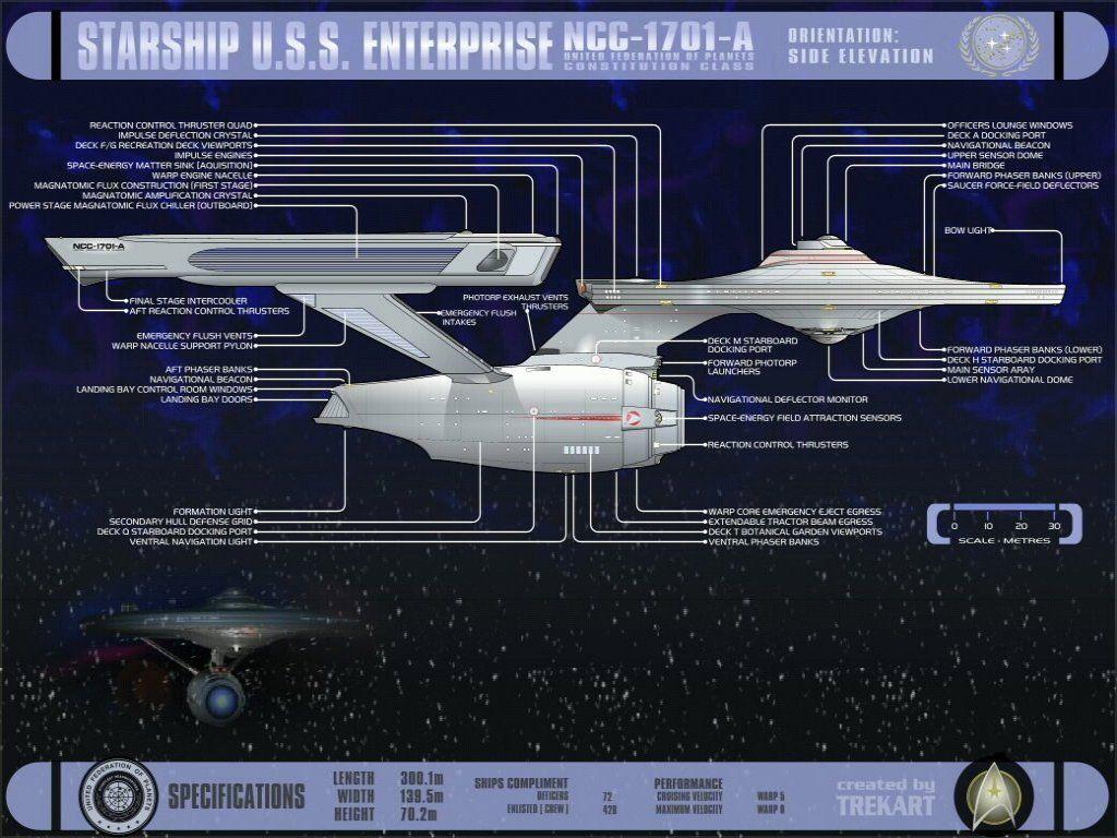 star trek schematics   u.s.s. enterprise ncc-1701-a   ncc-1701