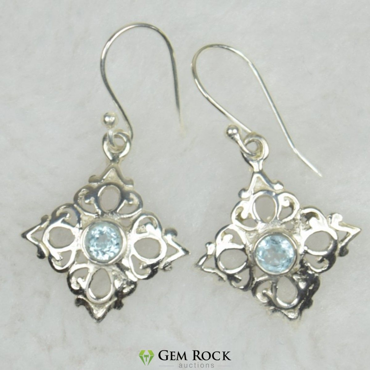 5fd2de851 NATURAL UNTREATED BLUE TOPAZ EARRINGS 925 STERLING SILVER JE Item Code:- JE  559 Gemstone