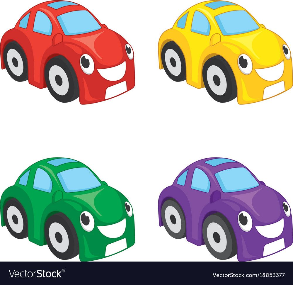Vector Illustration Of Cartoon Cars Download A Free Preview Or High Quality Adobe Illustrator Ai Eps Pdf And High Reso Car Cartoon Cartoon Cute Baby Cartoon