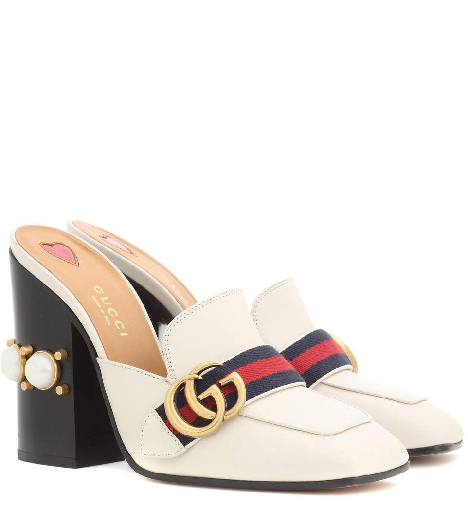 6262a8109 GUCCI Leather Loafer Mules. #gucci #shoes #mules | Gucci | Shoes ...
