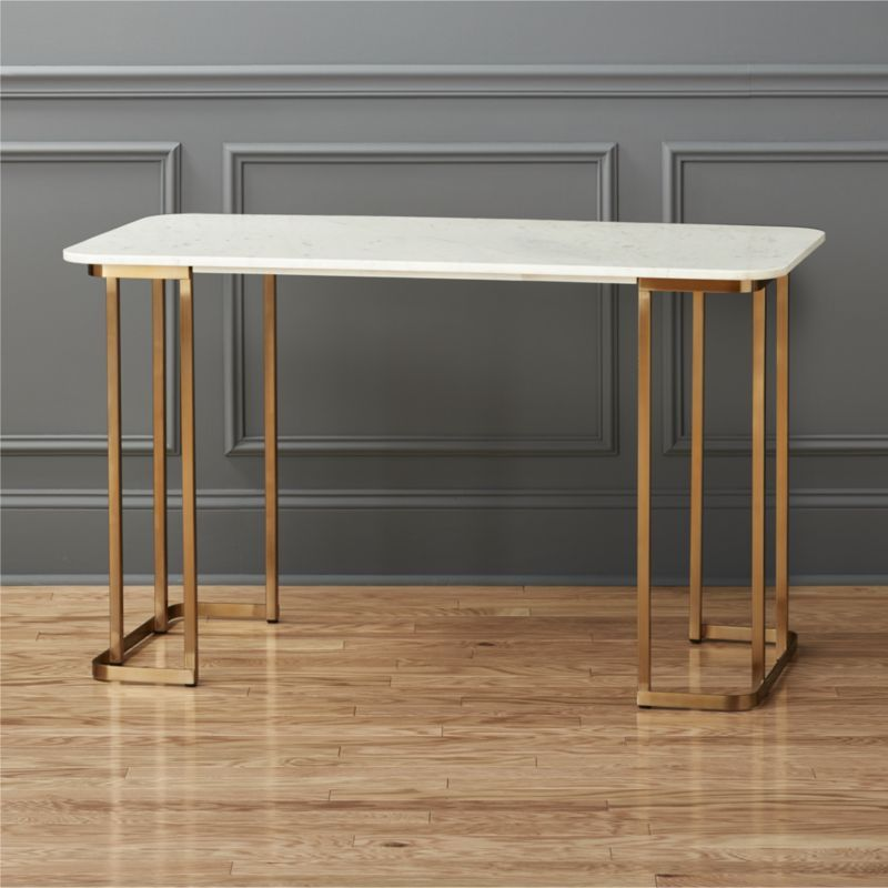 Great Shop Dahlia Marble Desk. This Beauty Just Might Have You Volunteering For A  Little Weekend