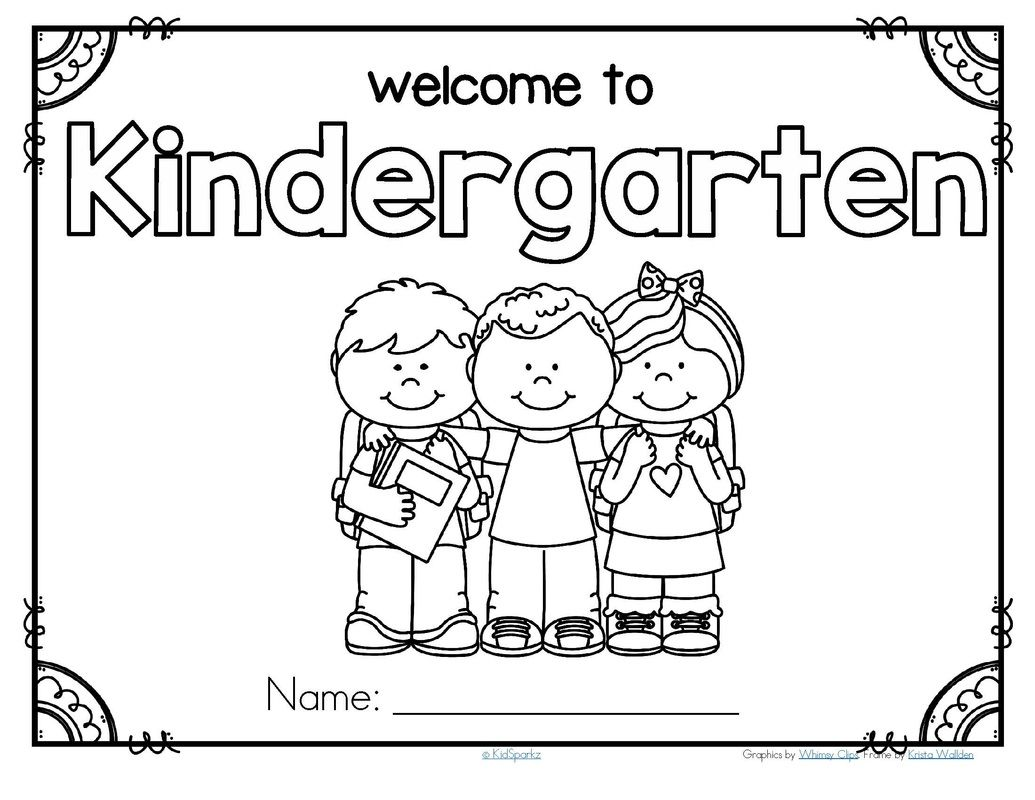 FREE*** Back to school welcome poster for Kindergarten. #KidSparkz ...