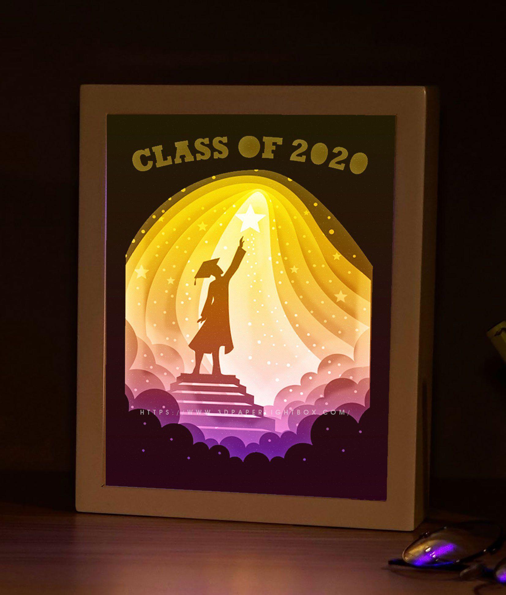 Bogo 166 graduation ceremony gift papercut lightbox 3d