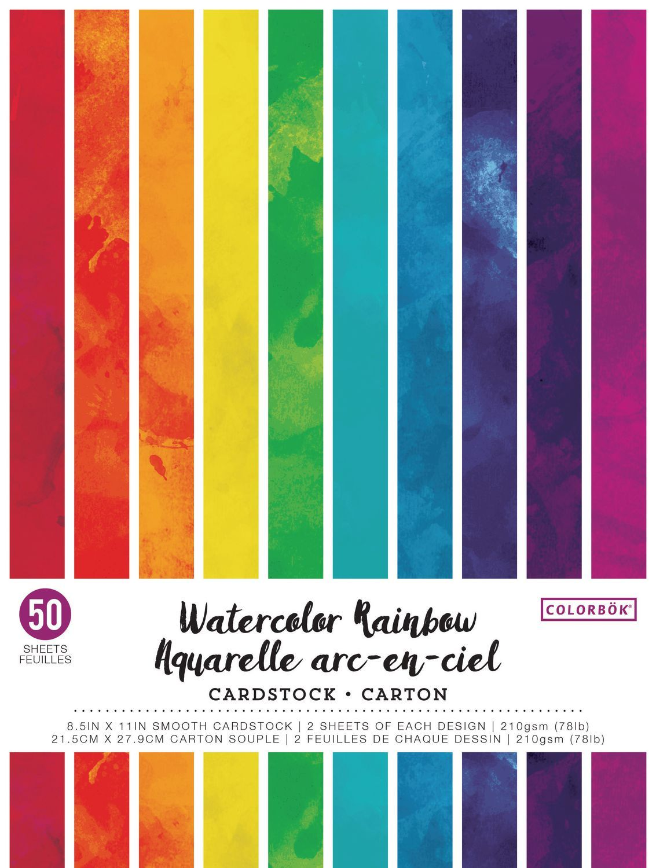 Colorbok Watercolour Rainbow Cardstock Walmart Canada Cards