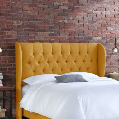Skyline Furniture Tufted Wingback Linen Headboard | THERE\'S NO PLACE ...