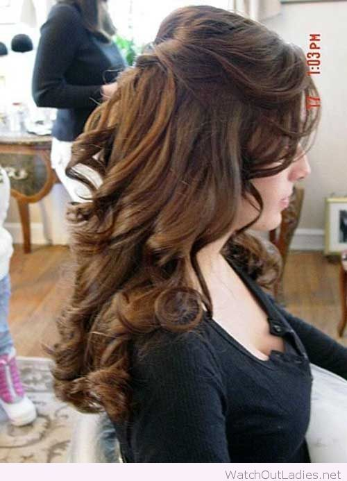 Half Up Half Down Curly Hair With Images Wedding Hairstyles