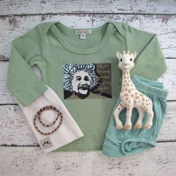 Cute Einstein, Baby clothes, sizes 3 to 18 months by lepetitmonami. Explore more products on http://lepetitmonami.etsy.com