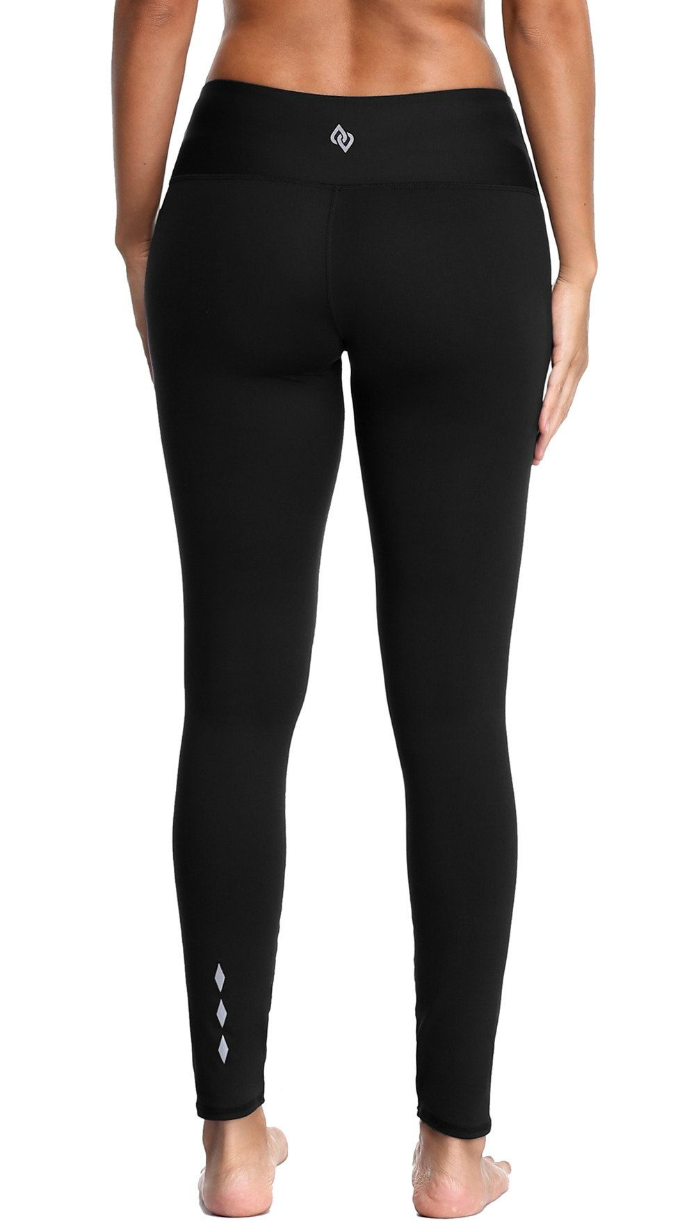 c6c0d5f4056a3 ALove Womens Workout Running 4 Way Stretch Yoga Capris Leggings Tights  Black Large. Non see
