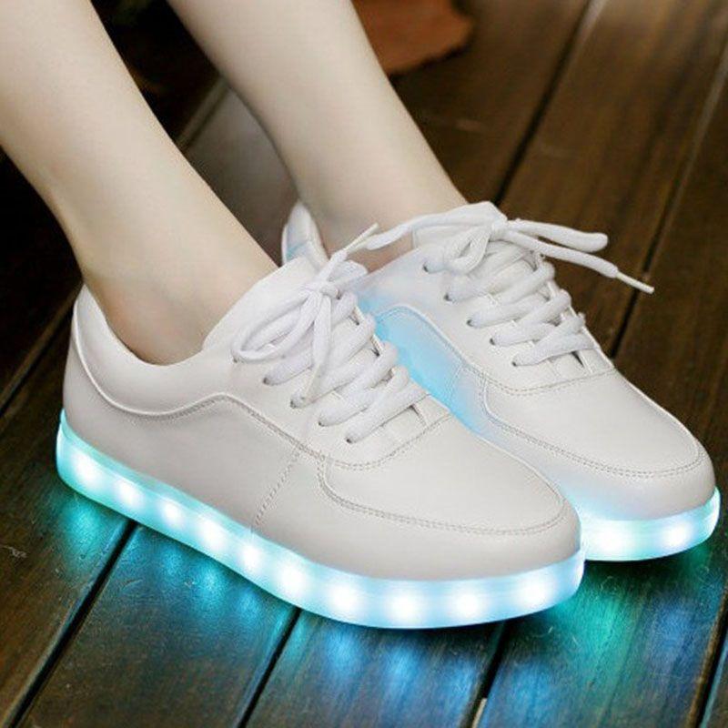 Led luz zapatos casuales mujeres 2017 zapatos Unisex