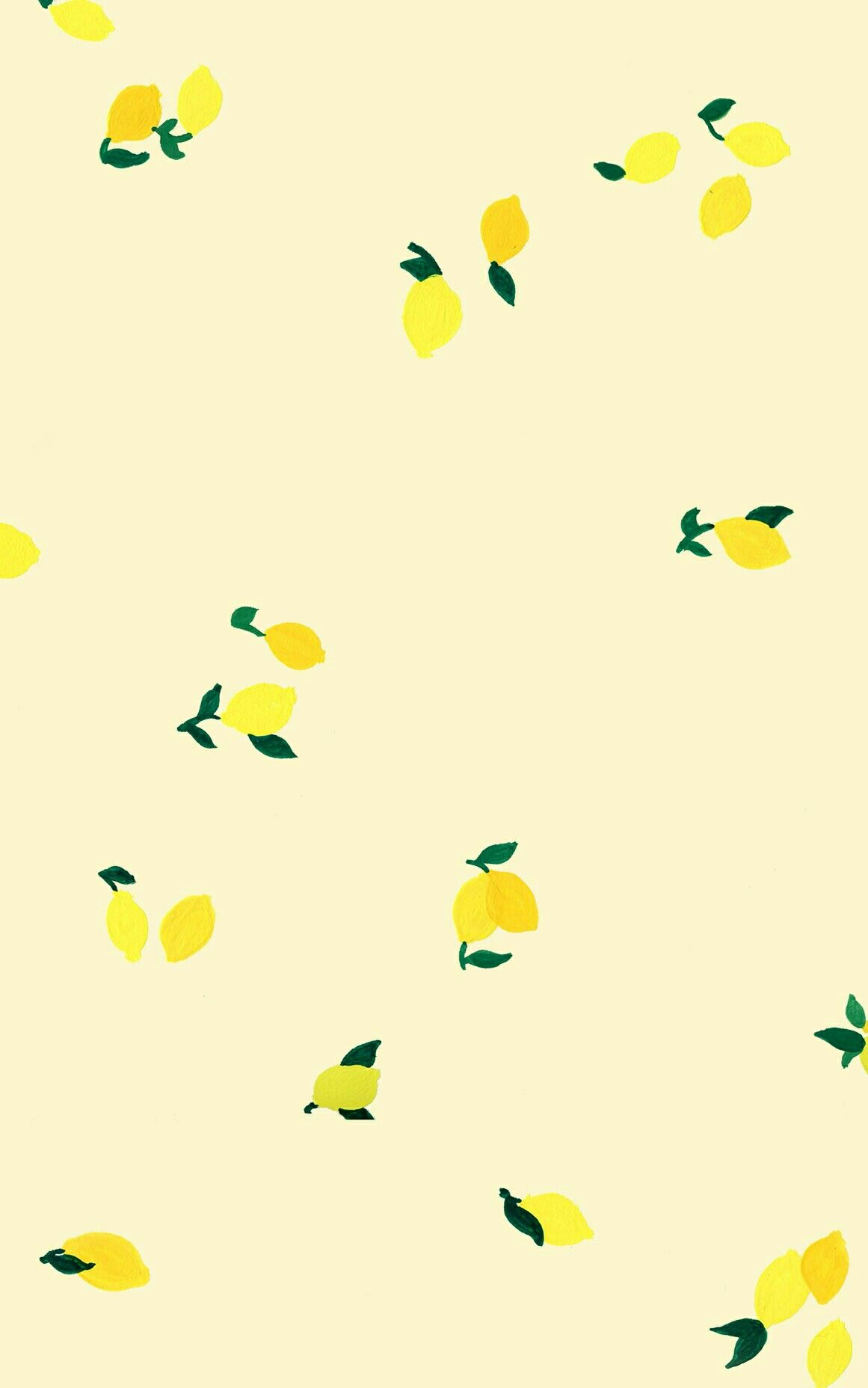 Scattered lemon print Cute wallpaper backgrounds, Cute