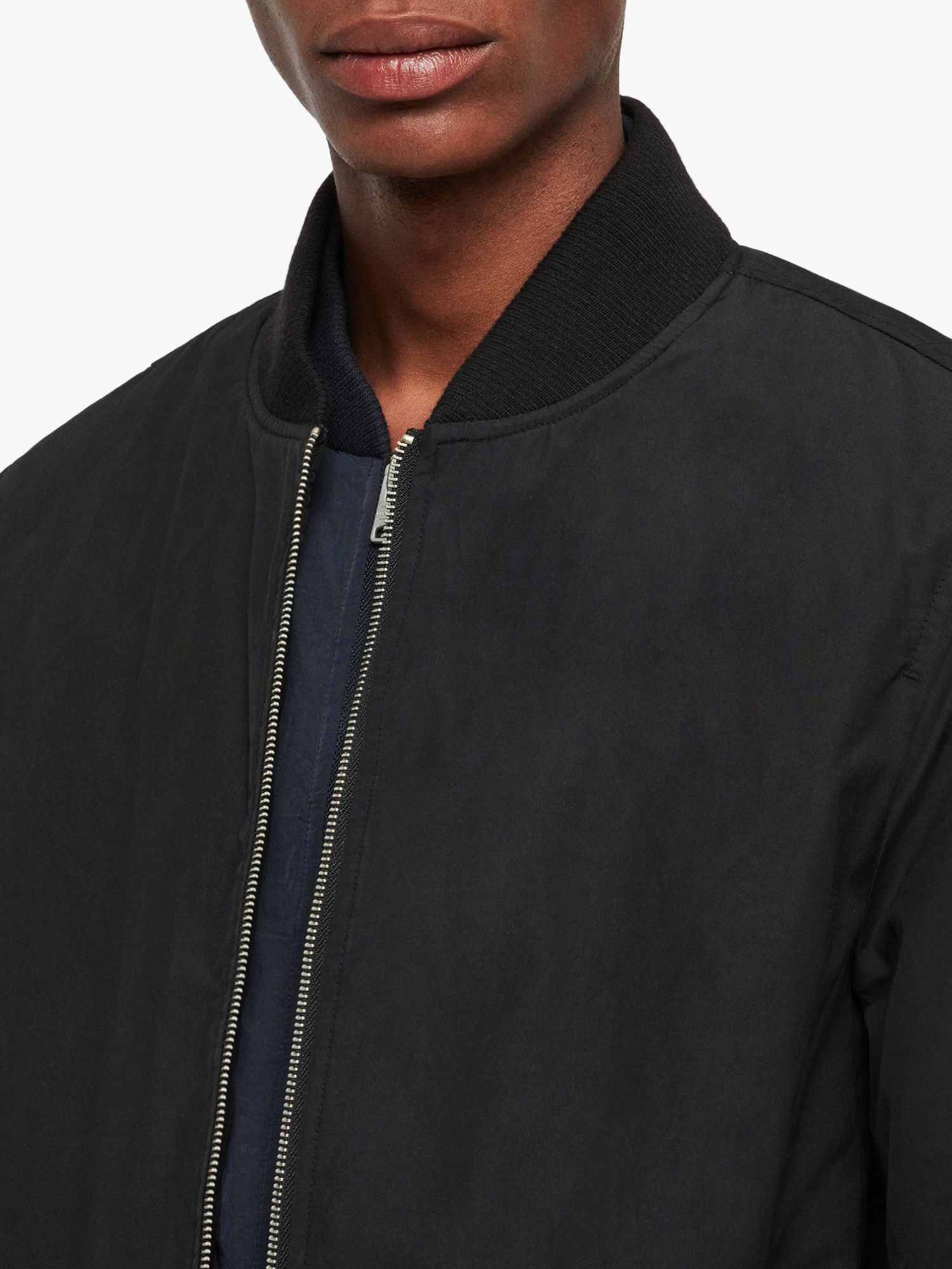 AllSaints Farrier Bomber Jacket   Black bomber jacket