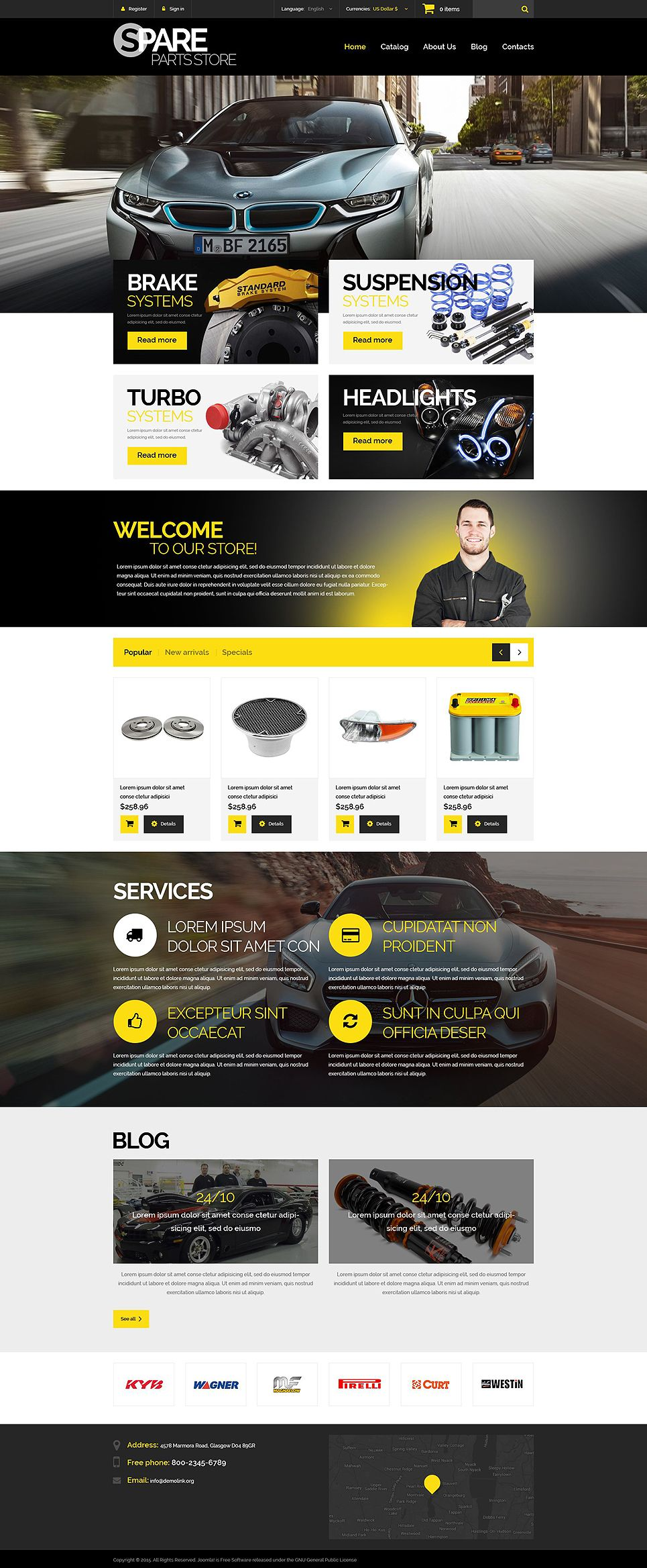 Spare Parts Store Prestashop Theme Prestashop Themes Web Design