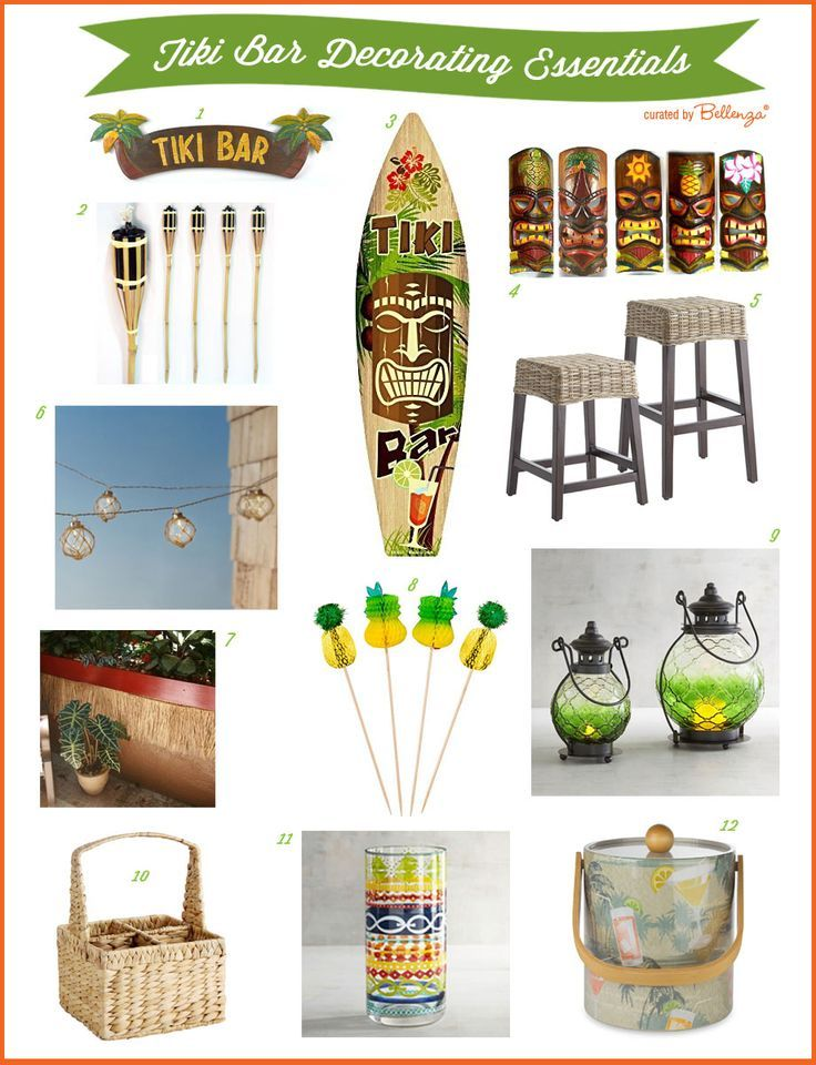 Diy Decorating Ideas For A Backyard Tiki Bar Hut Tiki