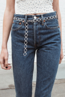 Silver Chain Belt From Brandy Melville In Video How It Used To Be