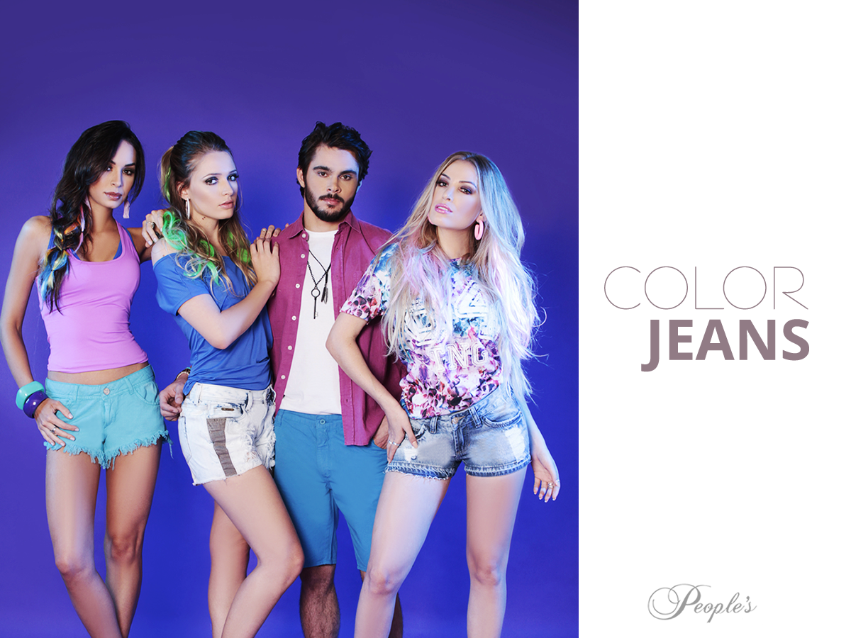 Peças coloridas em jeans você encontra aqui na People's! Apostem, meninas e meninos!