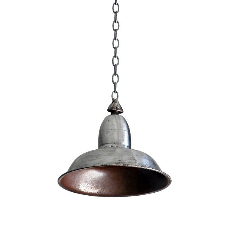 single polished steel french industrial light 1 lighting