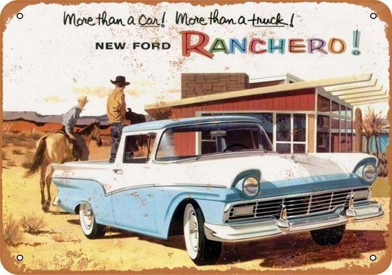 1957 Ford Ranchero Vintage Look Metallschild -