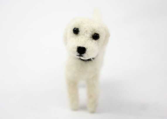 Needle Felt Custom Dog Portrait by mrminikin on Etsy, $150.00