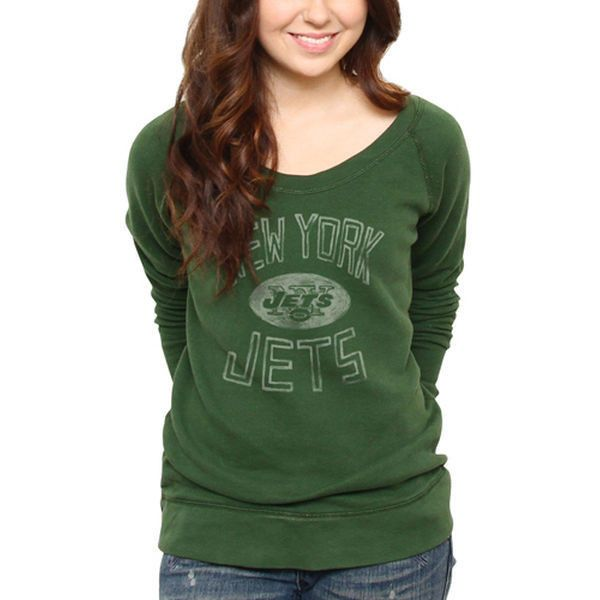 Junk Food New York Jets Women s Classic Off-The-Shoulder Sweatshirt -...  ( 15) ❤ liked on Polyvore featuring tops 3c22a46e4