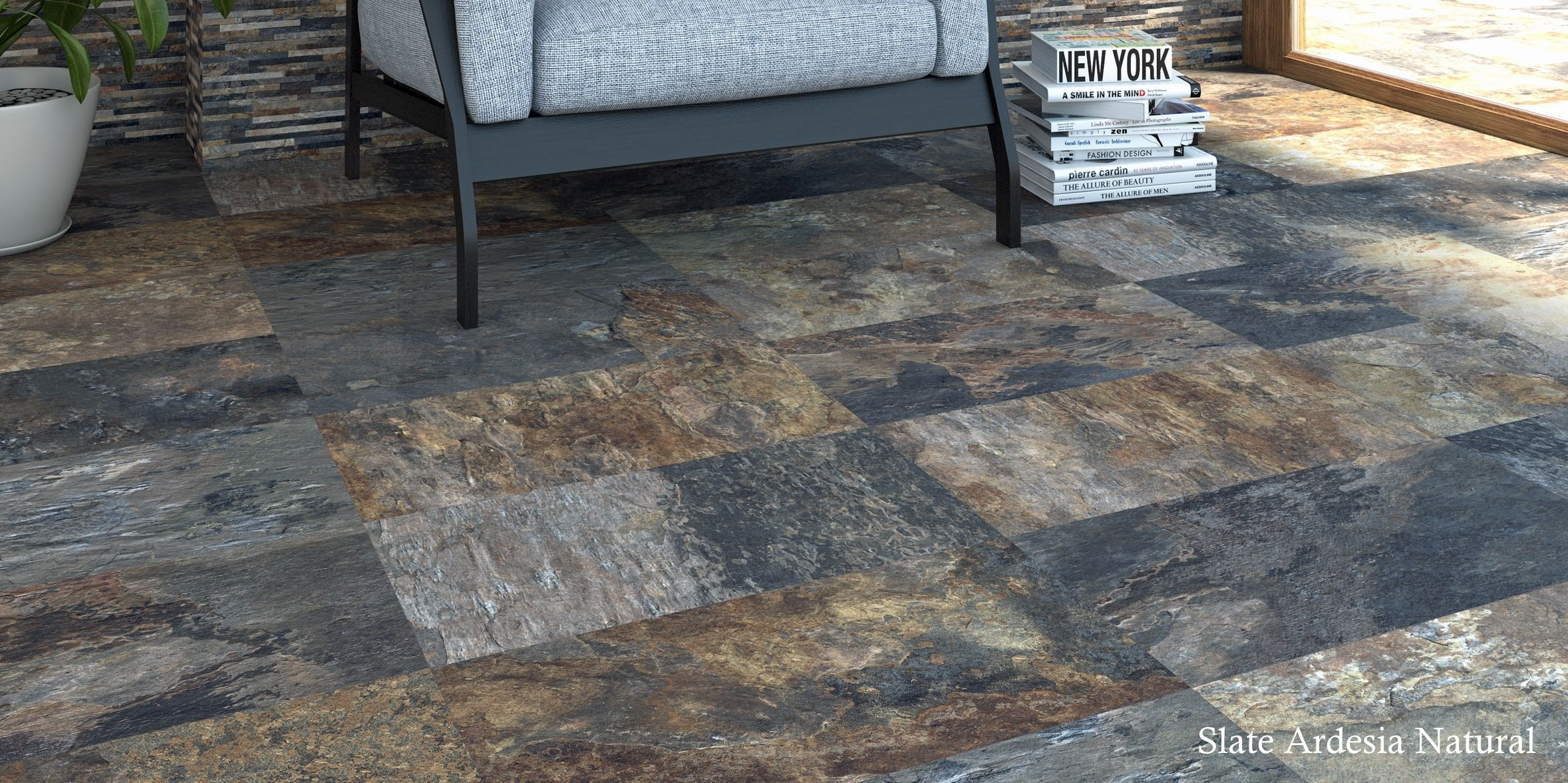 Tilemax Slate Ardesia Natural | Modern Living Spaces | Home decor