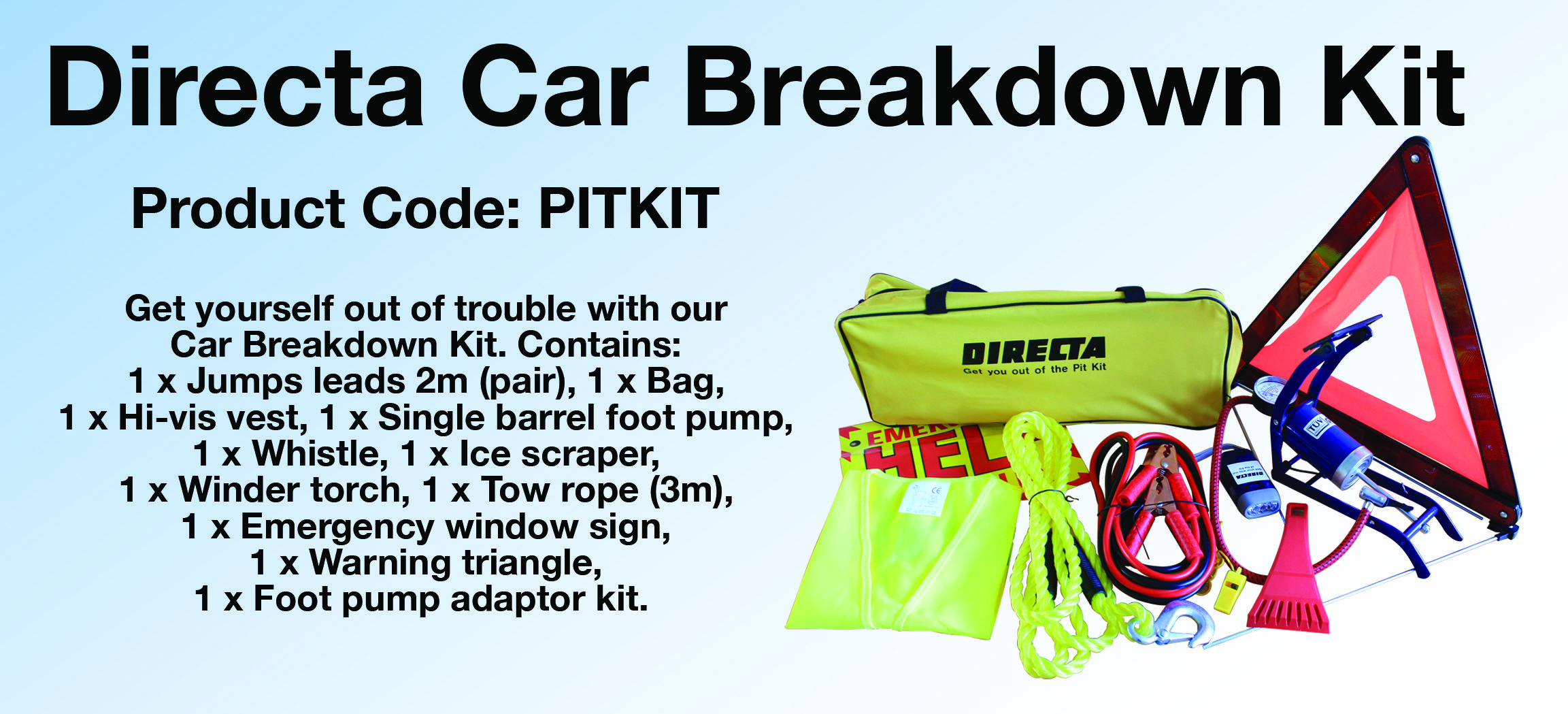 Get yourself out of trouble with our car breakdown kit available to get yourself out of trouble with our car breakdown kit available to order from solutioingenieria Gallery